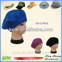 Women Beanie Knit Ski Cap Hip-Hop Color Winter Warm Unisex Wool Hat