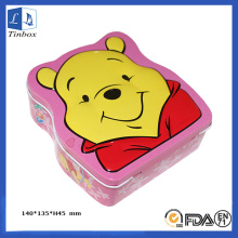 Cash Tin Box with Little Bear Printing