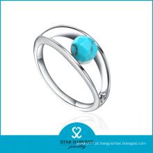 Anéis de casamento de turquesa de prata de alta qualidade