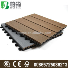 Wholesale composite co-extrusion wpc garden decking board floor tiles
