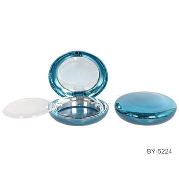 Gorgeous Round Blue Compact Powder Case