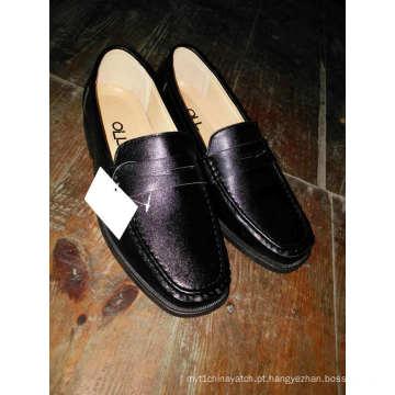 Homens De Couro Rodada Toe Sapatos Footware Injeção Adulto Trabalho