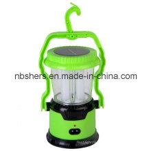 Lanterne de camping à double fonction double LED de 8 LED 1 torche LED