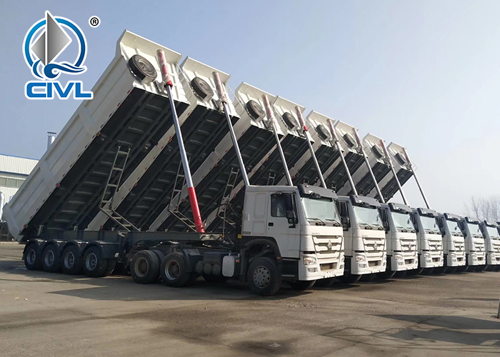 4 Axle Dump Semi Trailer 2