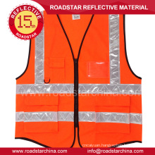 Construction reflective vest with pockets