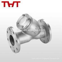 colador de lechada de acero fundido tipo brida y tipo para agua de gas de petróleo