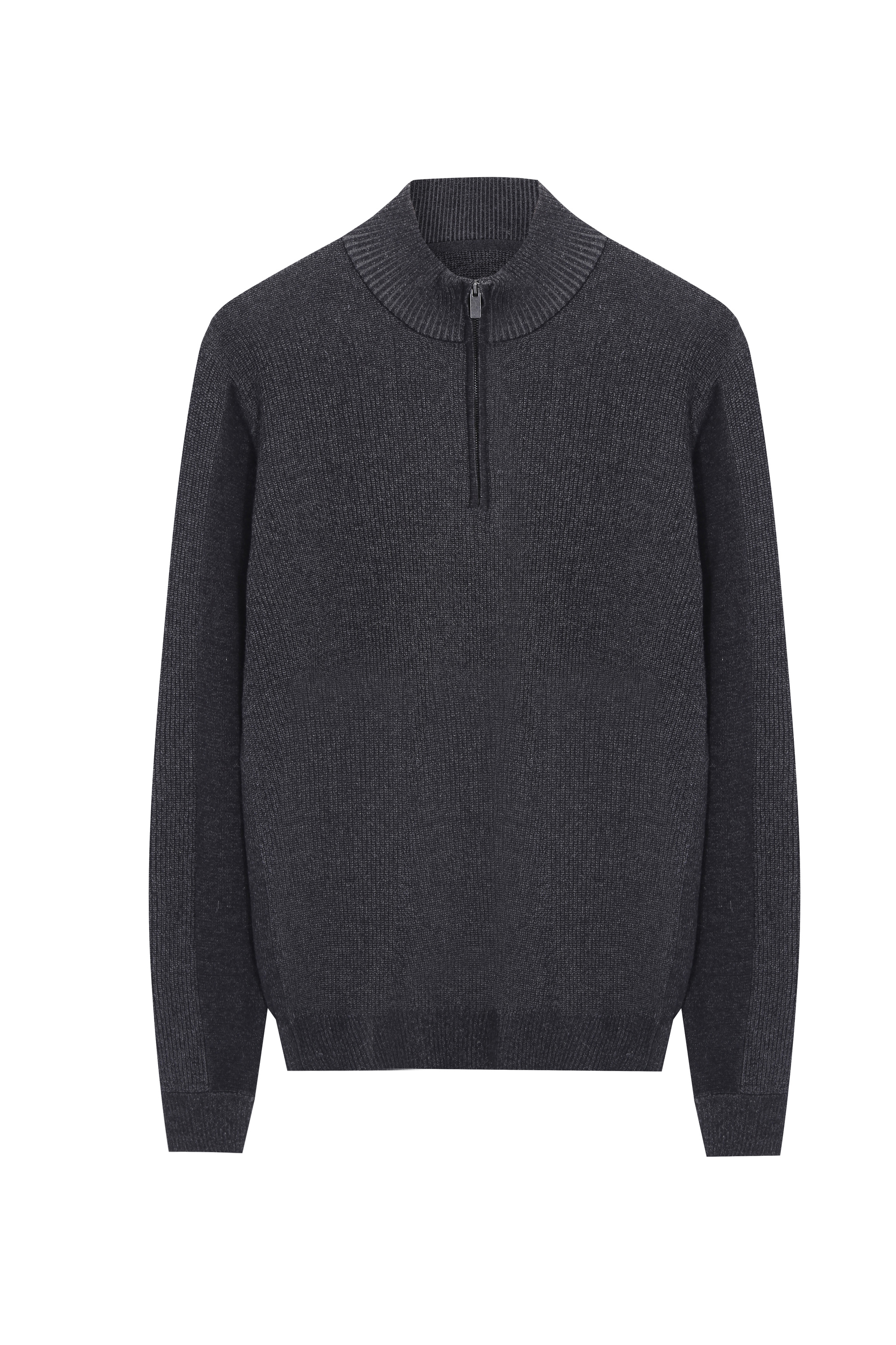 Men's half zip Soft Cotton knitted Sweater