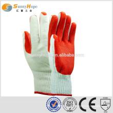 Gestrickte Konstruktion roter Handgummi Handschuhe