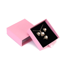 Custom Logo Printed Necklace Jewellery Box Luxury Small Pink Paper Packaging Gift Ring Jewelry Box