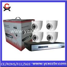 Kit NVR avec 4 caméras dôme IP PCS