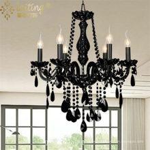 Centres de table de mariage lustre noir éclairage décoration 85576