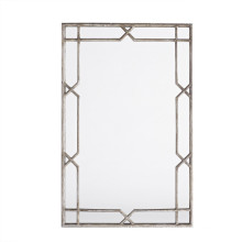 Antique Silver Finished Metal X-Quisite Framed Wall Mirror for Home Decoration