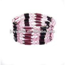 """Pérolas de acrílico rosa magnética wrap pulseiras & colar 36 """""""