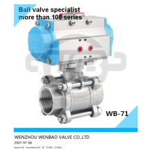 AISI304L Pneumatic Actuator Ball Valve 3/8 Inch 1000wog