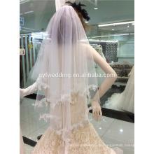 Späteste Hochzeits-Brautschleier eine Schicht-weiße Hochzeits-Schleier für Hochzeits-Zusätze C001