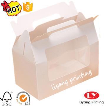 Boîte de gâteau en papier de qualité alimentaire en gros personnalisé