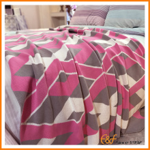 High Quality Acrylic Cozy Body Customized Knitted Blanket