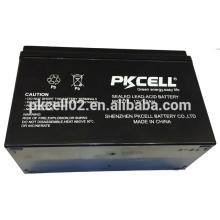 A bateria acidificada ao chumbo selada 12V 7Ah fez na China A bateria acidificada ao chumbo selada 12V 7Ah fez em China