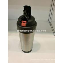 haute qualité bière travel mug manchon couvercle en silicone, tasse de voyage en plastique micro-ondables