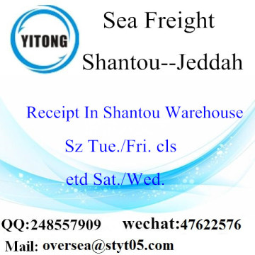 Shantou Port LCL Consolidation To Jeddah