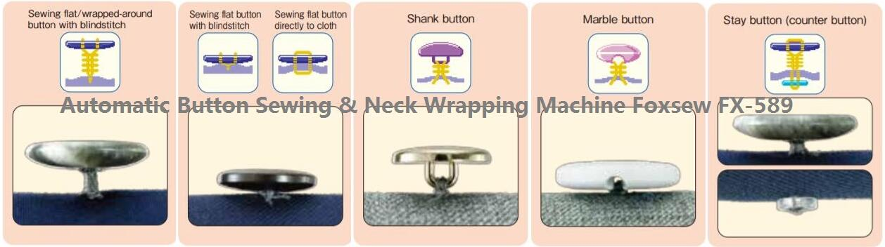Automatic Button Neck Wrapping Sewing Machine FOXSEW FX-589 -2