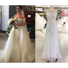2016 Pop Sale 2 in 1 Wedding Dress with Tulle Train