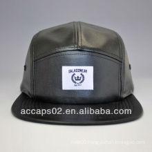 Hot leather 5 panel cap