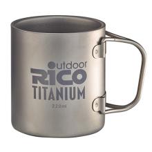 Taza de doble pared de titanio 220ml