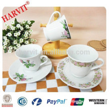 China Supplier Wholesale Coffee Cups And Saucers/Porcelain Tea Cups And Saucers