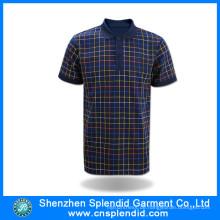Herren Baumwollstreifen Business Polo Shirt mit Firmenlogo