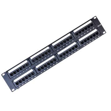 Painel de conexão de porta 48 cat5e não blindado de alta qualidade