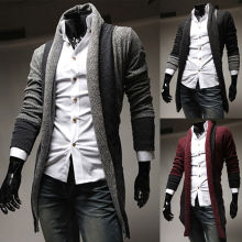 Mens Casual Lapel Slim Fit Cardigan Sweater Mens