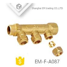 """ЭМ-Ф-A087 МФ 3/4"""" латунь мужской сжатия латунные фитинги водяной коллектор отопления"""