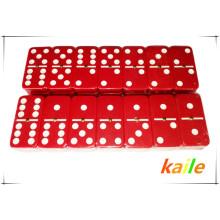 Double 6 cheap plastic colorful domino wholesale