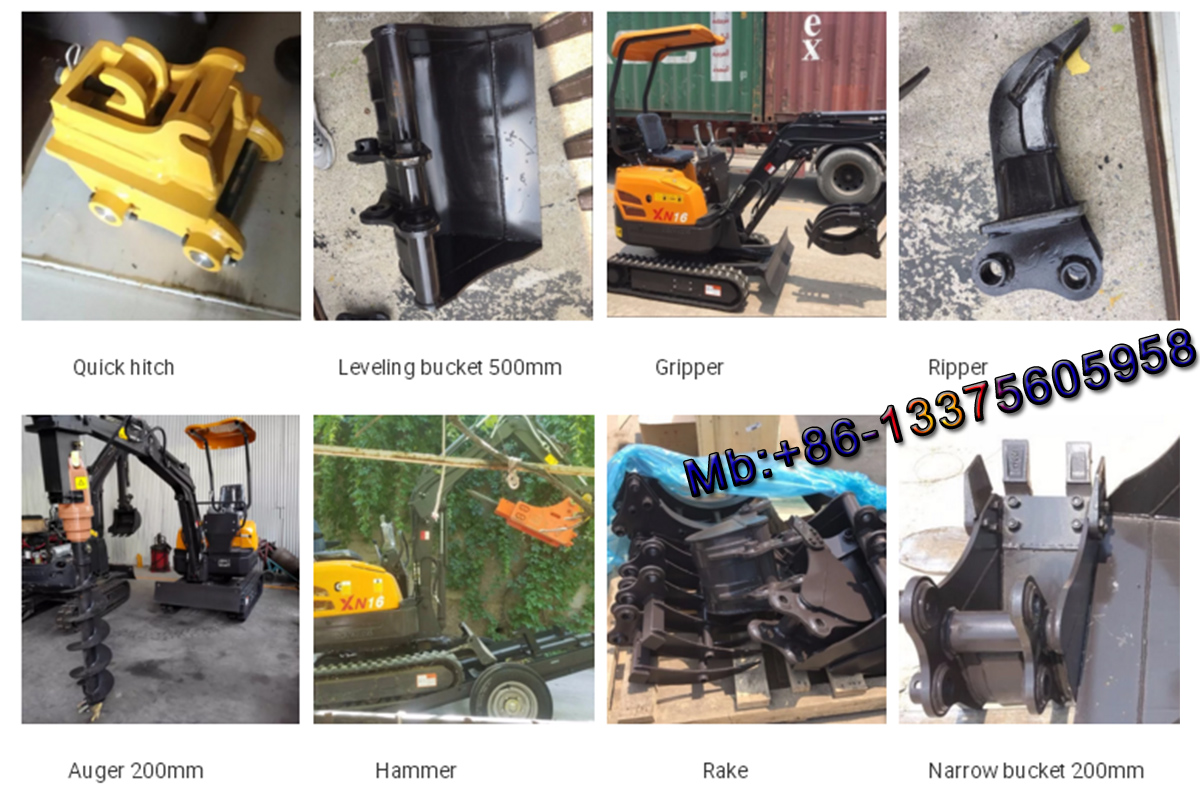 mini excavator with swing arm