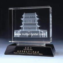 Кристалл лазера 3D дом подарка сувенира