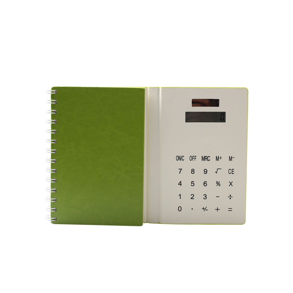 PU Coil Notebook Calculator with 70 Pages Note Book
