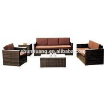 New design wicker sofa sets patio PE rattan furniture