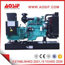6 Cylinder 100kw 125kVA Open Type Diesel Generator Set Cummins