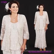 Drei Stücke Full Lace Mutter der Braut Kleider mit Plus Size Scoop Neck