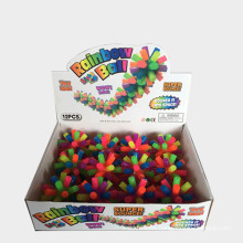 Pet luminous toy colorful bell ball dog vocal toy molar bite resistant TPR braided ball