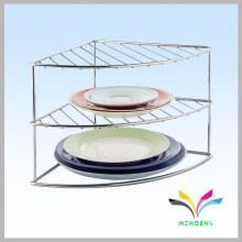 sturdy knock-down functional black wire 3 tier dish rack