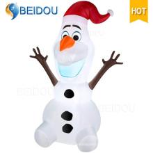 La Navidad inflable del personaje de dibujos animados de Santa Claus del oso gigante al por mayor Olaf