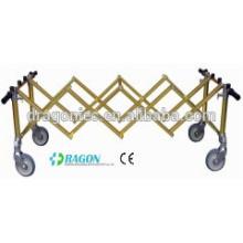 DW-TR004 chariot à main pliant Golden Aluminum Alloy Church Trolley