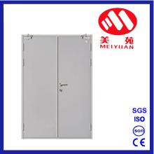 Puerta doble con detector de incendios de acero y CCC