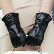 ZF5789 Vestido para mujer Thinsulate forrado guantes de cuero negro