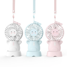 Promotion Gift Necklace Mini USB Foldable Fan With Night Light For Baby