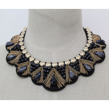 Mulher moda bijuterias bead colar colar de cristal (jE0142-2)