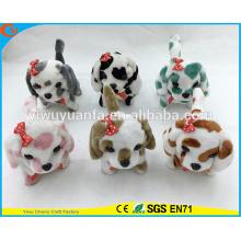 High Quality Kid's Game Stripe Walking Barking Electric Stuffed Puppies