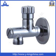 Хороший полированный латунный угловой клапан для воды (YD-5034)